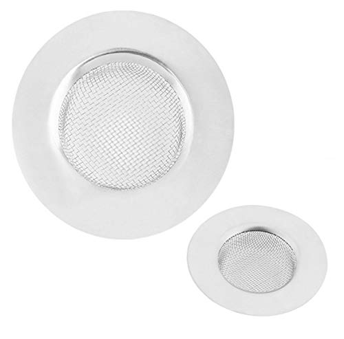 2 PCs 7.5 X 1.8 CM Bathroom Shower Hair Sewer Plug Cleaner Wash basin Metal Hairs Trap Catch Hole Bathtub Drain Catcher Bath Strainer Mesh Long Hair Filter Kitchen Sink food blockages Cleaning Tool axuanyasi