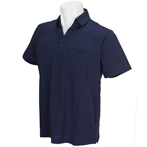Charee Braver (チャーリーブレイバー) 鹿の子 台衿 ポロシャツ 吸水速乾 728717 (3(L), ネイビー)