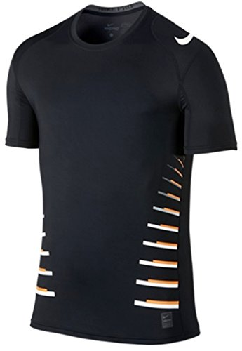 Nike Pro Men's Cool Fitted Speed Vent Tee (Black, 2XL)