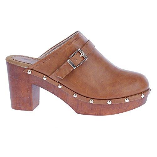 CATISA-sd4_fd259-Sandale para mujer Marrón - marrón (camel)