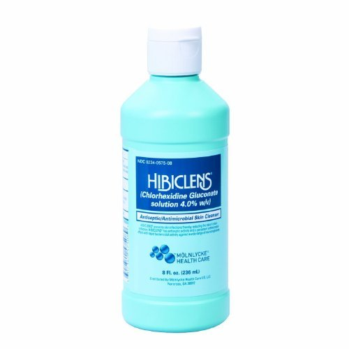 Hibiclens Antiseptic Antimicrobial Skin Cleanser 8 Fl oz. 236ml - Qty 2 Bottles by Hibiclens