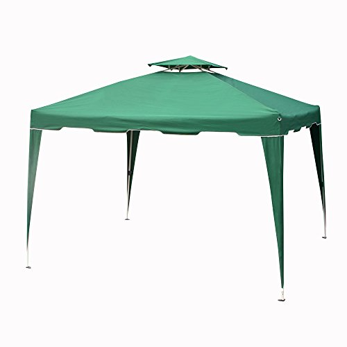 Cloud Mountain 10x10 Ft Pop up Canopy Outdoor Tent Portable Instant Folding Canopy with Carrying Bag Garden Patio Gazebo Tent for Party Event, Hunter - Garden Green Gazebo Party
