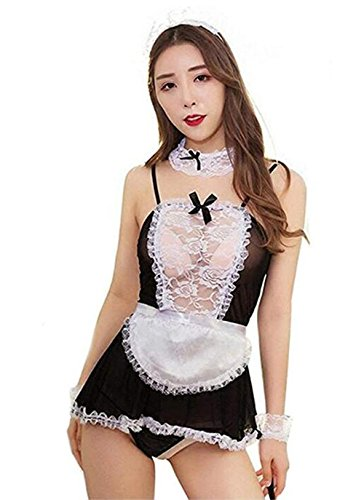 Plus Size French Maid Outfits - Allmloers Plus Size Sexy Maid Lingerie