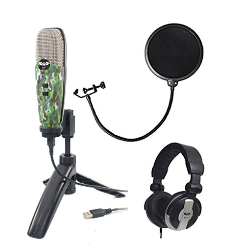 CAD Audio U37 USB Studio Condenser Vocal,Instrument & Recording Microphone, Camouflage With CAD Audio 6