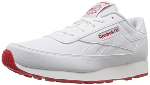 Reebok Mens Classic Renaissance Ice Fashion Sneaker White/Excellent Red HyVqfOga