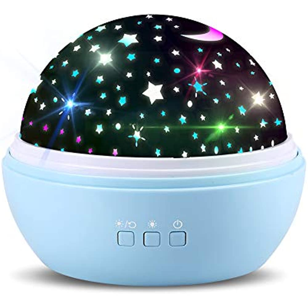 Details About Star Ocean Rotating Ceiling Projector Night Light For Kids Baby Bedrooms Blue