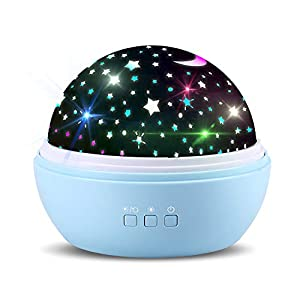 TOFOCO COM Newest Star Ocean Rotating Ceiling Projector Night Lights for Kids Baby Bedrooms Nursery- Best Unique Gifts for Christmas Birthday