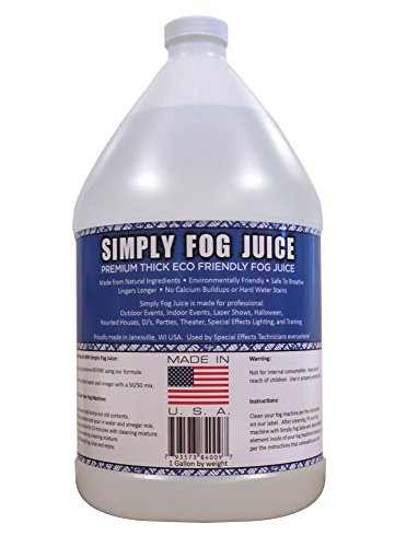 [1 Gallon DJ Party Event Lighting Fog Juice for Fog Machines USA MADE - Premium Thick Juice (Does not contain Propylene] (Party Fog Machine)