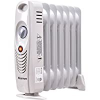 COSTWAY Oil Filled Radiator Heater Mini Portable Electric Room Thermostat 700W