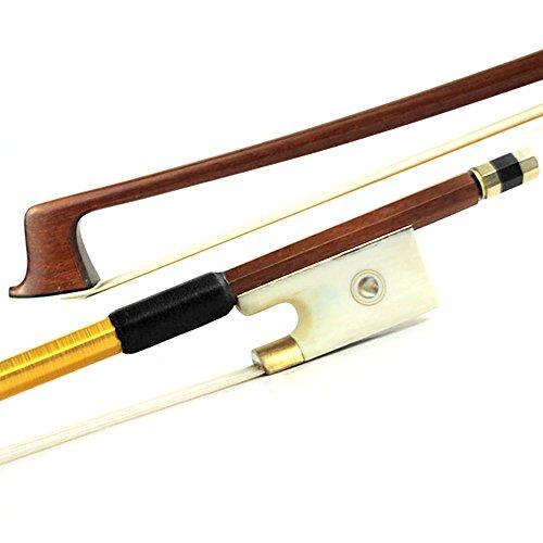 Master Ironwood Violin Bow 4/4 Ivory Color Parisan eye Frog Golden Parts 61.6g