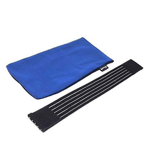 GelpacksDirect Large Hot Cold Gel Pack Reusable Ice Packs First Aid for use as Either a Heat Pad or Cool Pad 2 Pack Muscle Pain Relief - with 2X Non-Woven Sleeves