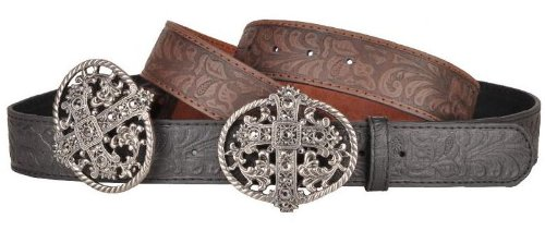 Deluxe Adult Costumes - Men's antique cross leather belt