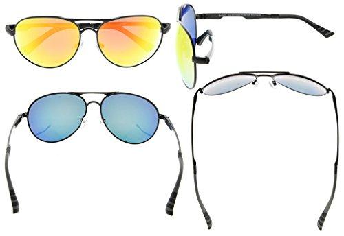 Eyekepper Lunettes de soleil Metal monture verres en Polycarbonate verres Polarisees  lunettes soleil style aviateur noir ... 627ec4c720e2