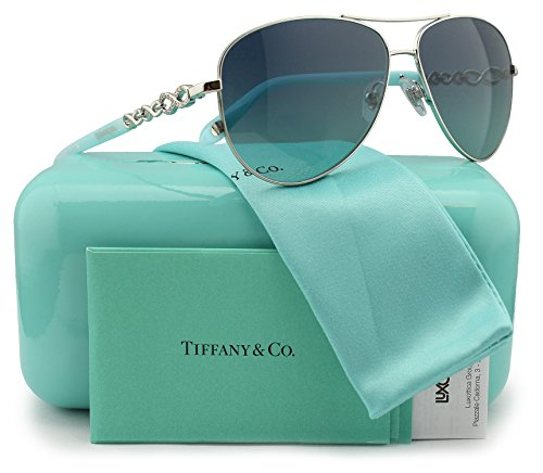 4c5a70543ab8 Tiffany   Co. TF3049B Sunglasses Silver w Blue Gradient (6001 9S) TF 3049  60019S 58mm Authentic