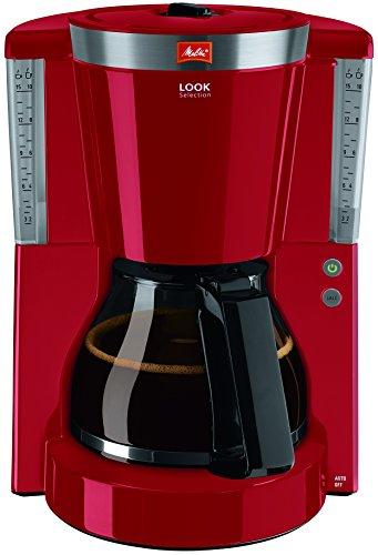 Melitta 1011-00 Cafétera de Filtro con Jarra de Vidrio, Función de Conservación de Temperatura, 1.25 litros, Rojo