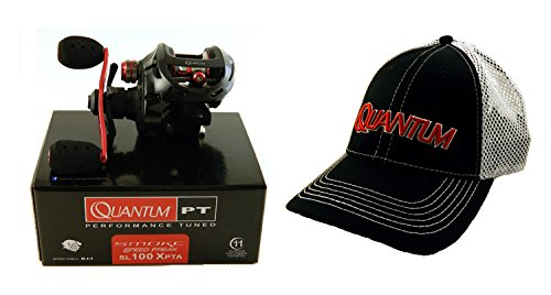 Bundle – Quantum Smoke Speed Freak SL100XPTA 8.1:1 Right Hand Baitcast Reel + Hat For Sale
