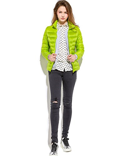 Cappotto Puffer Donne Breve Peso Delle Trapuntato Yeokou Packable Verde Giù zxaqw8H4