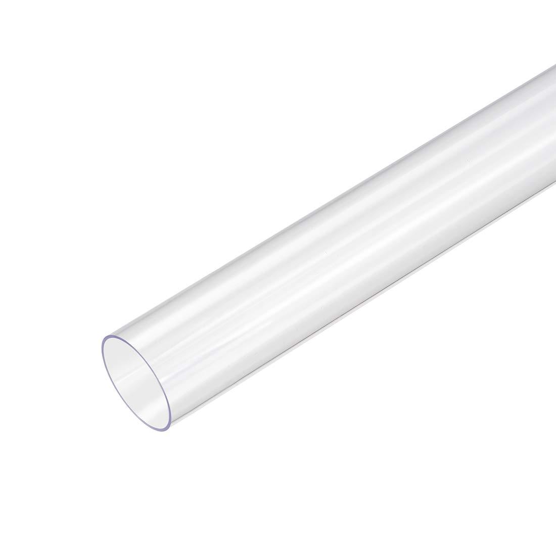 1//2-inch OD x 1.6ft uxcell 2pcs PVC Rigid Round Clear Tubing