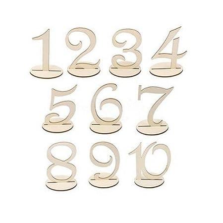 Au Plaisir de los ojos – Número de madera para Plan de mesa Boda ...