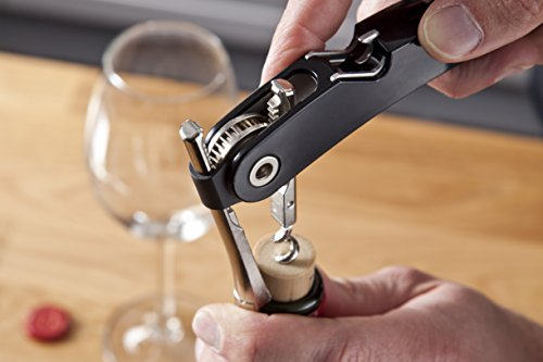 Vacu Vin Corkscrew - Vacu Vin 68854606 Black Single Pull Corkscrew