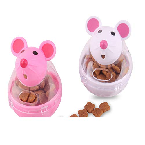 Glumes Interactive Dog Toy - Rat Shape Food Dispenser Ball Toy for Small Medium Large Dogs Durable Chew Ball - Boredom Puzzle Toys Food Slow Feeder Tumbler IQ Treat Ball - Easy to Clean by Glumes (Image #2)