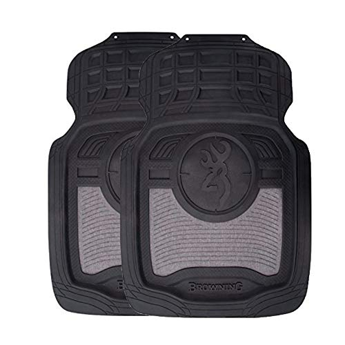 (Browning Front Floor Mats | Heather Black | 2 Pack)