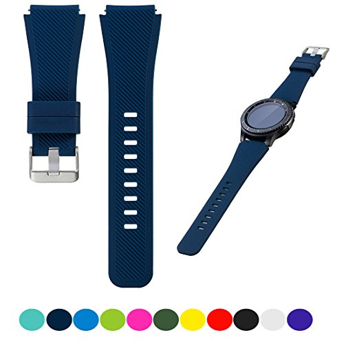 Feskio for Samsung Gear S3 Frontier / S3 Classic Smartwatch Replacement Watch Band Accessory Soft Silicone Bracelet Wrist Strap Watch Band for Samsung Gear S3 Frontier/Classic Smartwatch