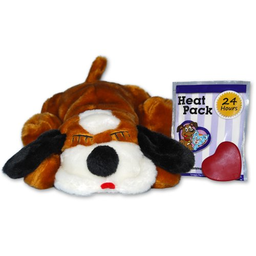 Snuggle Pet Products Snuggle Puppies Behavioral Aid Toy for Pets, Brown and White, My Pet Supplies