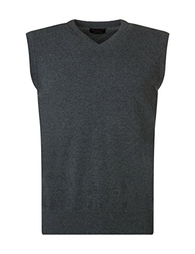 Mens Made In Scotland 100% Cashmere V Neck Slipover Summer Isles-XX-Large by Great and British Knitwear