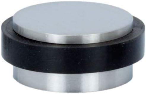 T/ürstopper schwarzer Gummi Boden Edelstahl 34x12mm Klebstoff