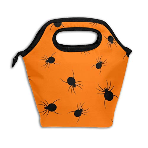 Wucancanbb Halloween Spider Black Lunch Tote,Thick Reusable Insulated Thermal Lunch Bag Lunch Box Carry Case Handbags Tote with Zipper for Adults Kids Nurse Teacher Work Outdoor Travel Picnic]()
