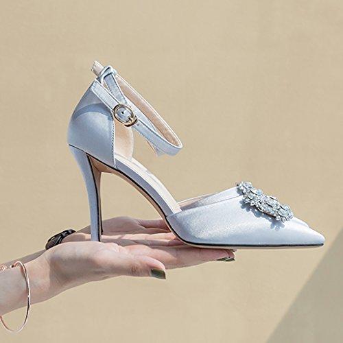 la Caída Bordado Zapatos 5 Silver Dama Hadas Baile Señaló de Nupcial Color Tacón Alto Honor de Tamaño Diamante Boda de YLLHX de 5cm de Vendas UK3 6 5cm 6 de Silver CN35 Verano Primavera Mujer EU36 vRnXdqw