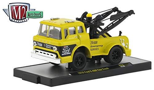 (M2 Machines 1970 Ford C-600 Tow Tuck (Empire Yellow) Auto-Trucks Series Release 52 - 2019 Castline Premium Edition 1:64 Scale Die-Cast Vehicle (R52 18-66))