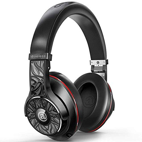 Wireless Headphones – Passive Noise Cancelling Headphones Bluetooth Headphones with Mic Deep Bass Wireless Headphones Over Ear, Comfortable Protein Earpads, DJ Headphones for Travel Work PC