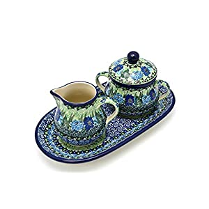 Polish Pottery Cream & Sugar Set – Unikat Signature – U4629