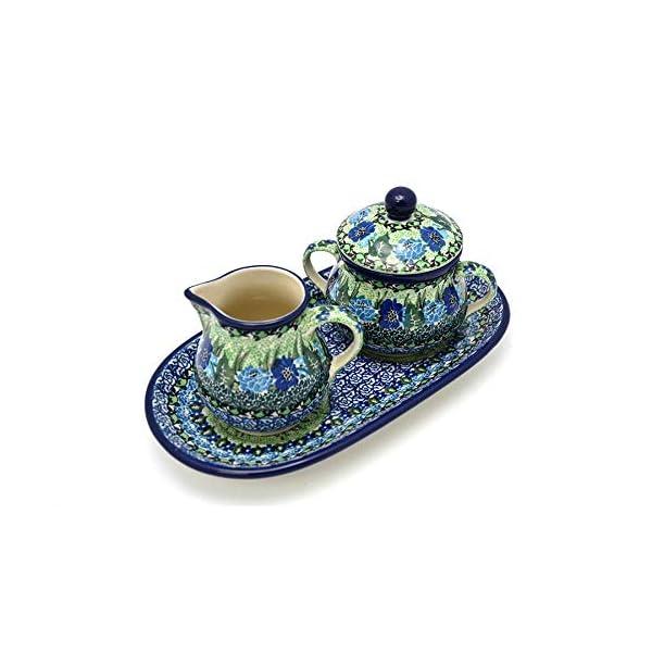 Polish Pottery Cream & Sugar Set – Unikat Signature – U4629
