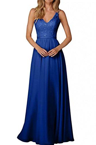 Blau Chiffon Marie A Champagner La Brautjungfernkleider Lang Braut Edel Abendkleider Spitze Royal Linie Partykleider Rock 6aCCIFwxq