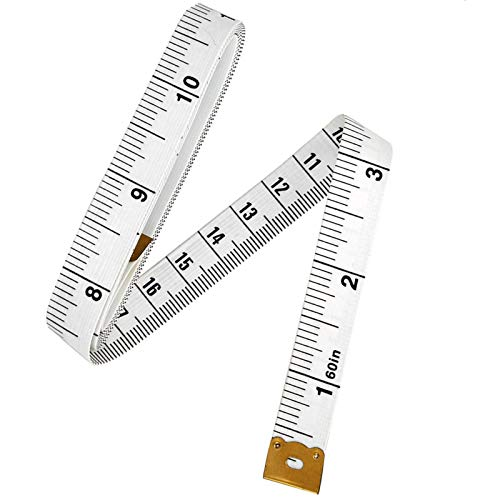 2PCS Mini 60inch Retractable Ruler Tape Measure Sewing Cloth Dieting Tailor