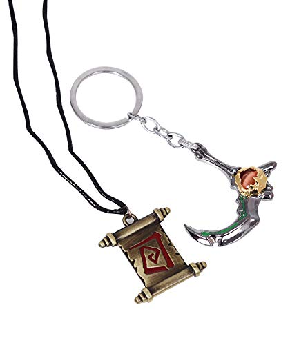 - Pack of 2 Dota 2 Pop Cute pocket keychain decor Game keyring Pendant charms Gifts for Boys Girls Best Friends/Collections