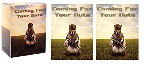Nuts Squirrel (Coming For Your NUTS - 1 Deck Box + 100 Shuffle-Tech GLOSS Finish Squirrel Sleeves by MAX PRO (fits Magic / MTG, Pokemon Cards) …)
