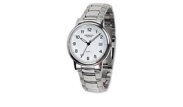 Pallas Para bar-1595.40.89 - Reloj para hombres, correa de acero inoxidable: Amazon.es: Relojes