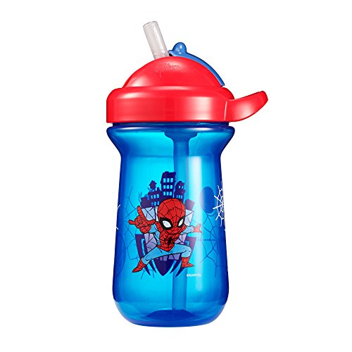 The First Years Flip Top Straw Cup, Spiderman