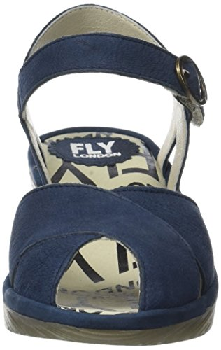 Fly London Damen Peke844fly Sandalen Blau (bleu)