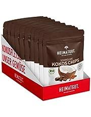 10 x 40g Heimatgut BIO Kokos Chips Schokolade Vorteilspackung