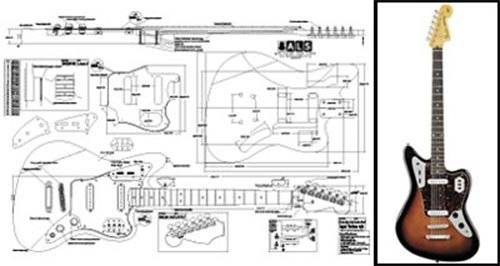 amazon com plan of baritone fender jaguar electric guitar full rh amazon com Telecaster Deluxe Wiring-Diagram Fender Telecaster 4-Way Switch Wiring Diagram