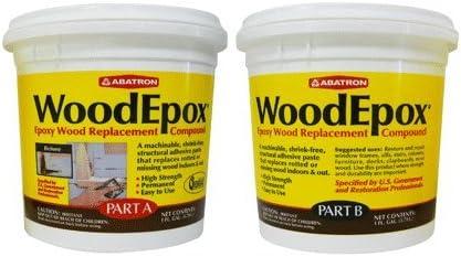 B0082GABTE Abatron WoodEpox Epoxy Wood Replacemnt Compound, 2 Gallon Kit, Part A & B 41YJGFaXVBL.
