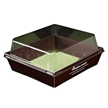 [Coffee] Set of 20 Disposable Sandwich Box Bread Box Hot dog Trays With Lids