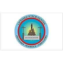 CafePress - Witch Hunter Rectangle Sticker - Rectangle Bumper Sticker Car Decal