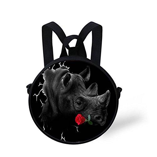 FancyPrint Shoulder Round Handbag Print Cute Round Bag V6lcc3004i Cute rgTwtrqnY