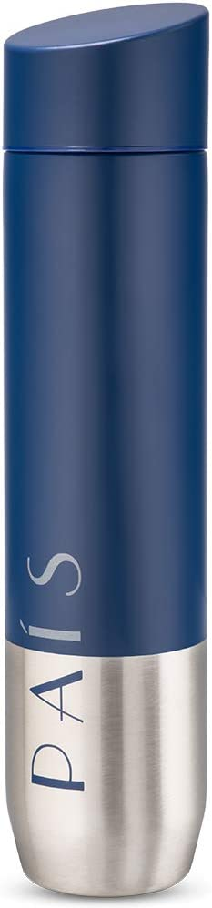 PAIS 'Infinity' Collection, Premium Stainless Steel & Vacuum Insulated Water Bottle, 17oz, Royal Navy
